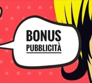 BONUS PUBBLICITÀ 2019- PROCEDURA SOSPESA