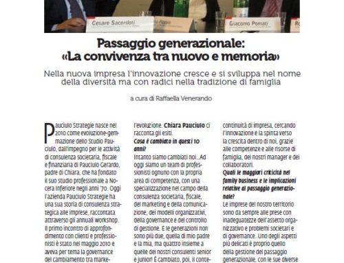 """COSTOZERO MAGAZINE-PASSAGGIO GENERAZIONALE """"LA CONVIVENZA TRA NUOVO E MEMORIA"""""""